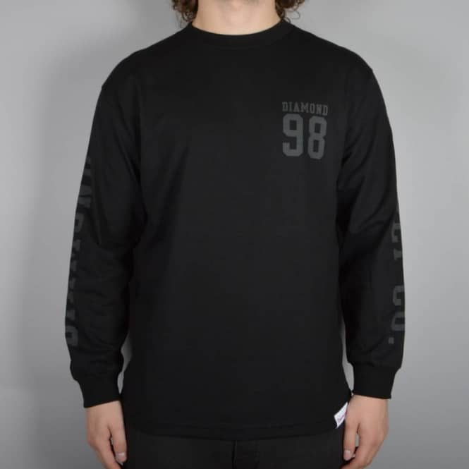 Diamond Supply Co Nine Eight Long Sleeve T-Shirt - Black