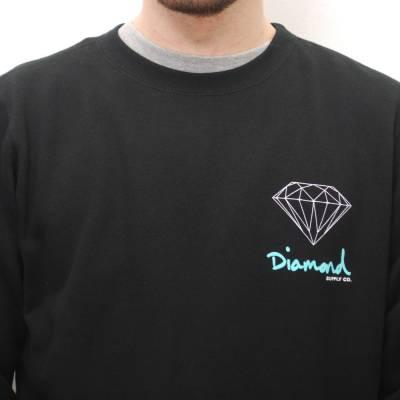 diamond supply co diamond supply co og logo crew black