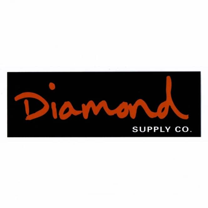 DIAMOND SUPPLY CO Skate Sticker Blue White d Logo for skateboards helmets decal