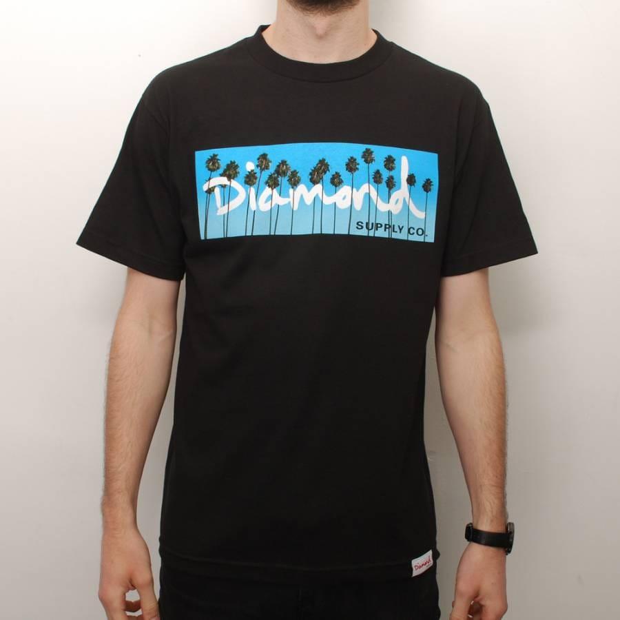 Diamond supply co diamond supply co og palms skate t for Wholesale diamond supply co shirts