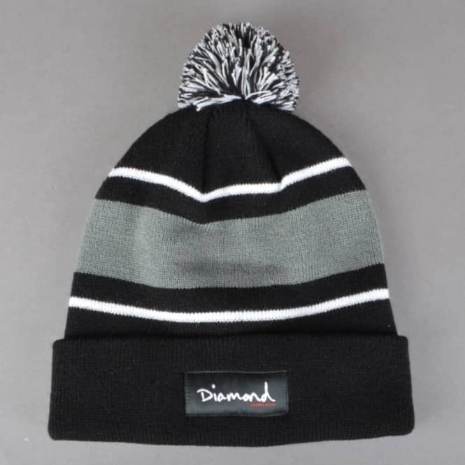 Diamond Supply Co OG Script Pom Pom Beanie - Black