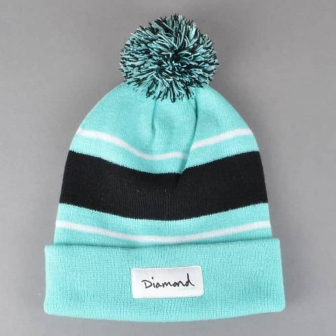Diamond Supply Co. OG Script Pom Pom Beanie - Diamond Blue