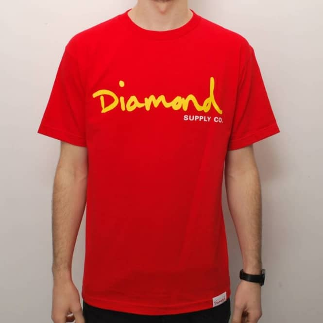 Diamond Supply Co. Diamond Supply Co. OG Script Skate T-Shirt - Red