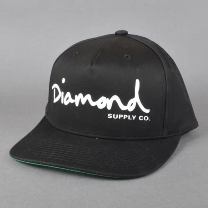 Diamond Supply Co. OG Script Snapback Cap - Black - SKATE ... - photo#29
