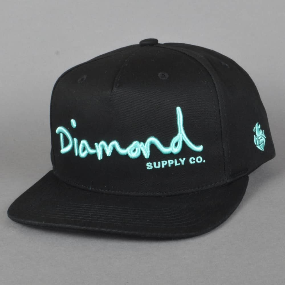 c747381e129ea4 Diamond Supply Co. OG Script Snapback Cap - Black - SKATE CLOTHING ...