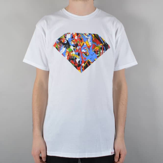 Diamond Supply Co. Painted Diamond Skate T-Shirt - White