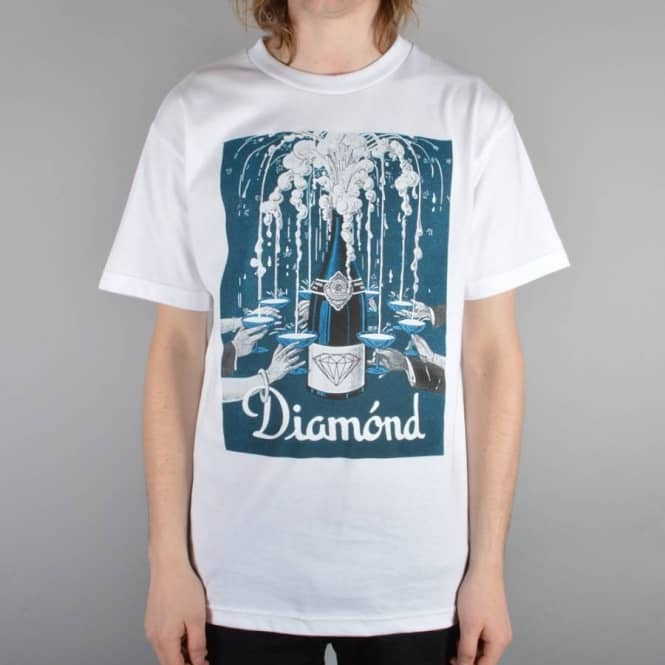 Diamond Supply Co Poppin Bottles T-Shirt - White