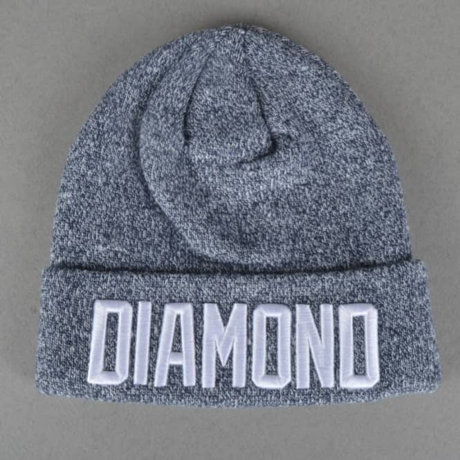 Diamond Supply Co Reggie Beanie - Blue Heather