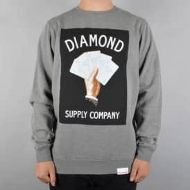 Royal Flush Crewneck Sweatshirt - Gunmetal
