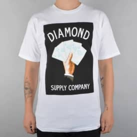 Diamond Supply Co Royal Flush Skate T-Shirt - White