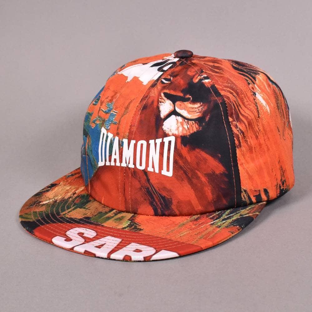 11bbb7f2059fd Diamond Supply Co. Safari (Lion) Unstructured 6 Panel Strapback Cap ...