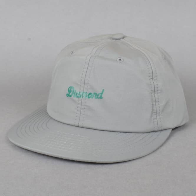 Diamond Supply Co. Script Clipback Cap - Grey
