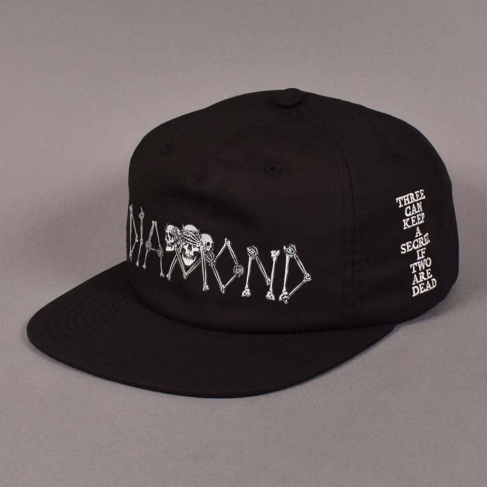 2621f61553ab77 Diamond Supply Co. Secrets Die Snapback Cap - Black - SKATE CLOTHING ...