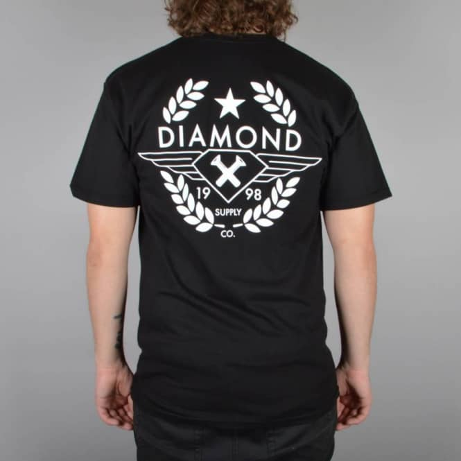 Diamond Supply Co. Shine Crest T-Shirt - Black
