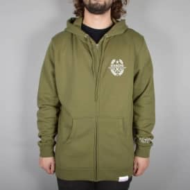 Diamond Supply Co. Shine Crest Zip Hoodie - Military Green