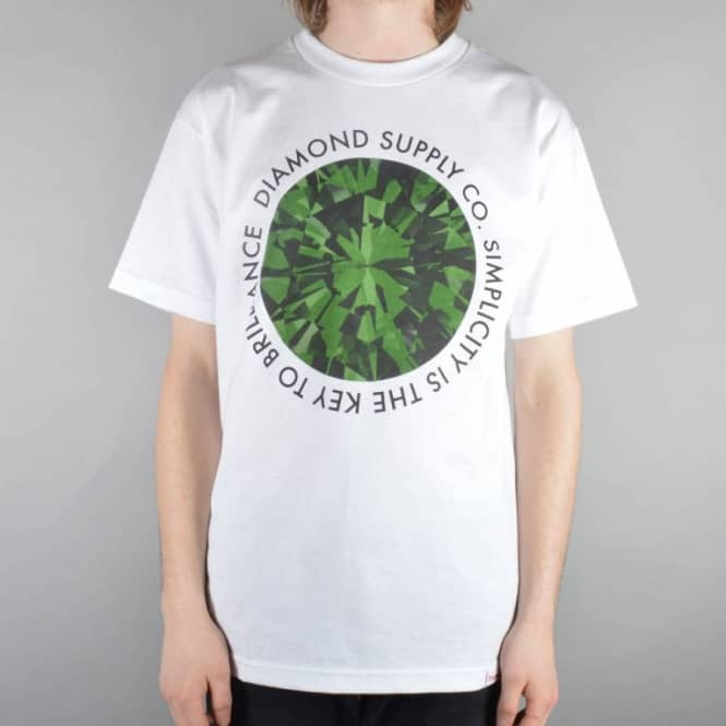 Diamond Supply Co. Simplicity Skate T-Shirt - White