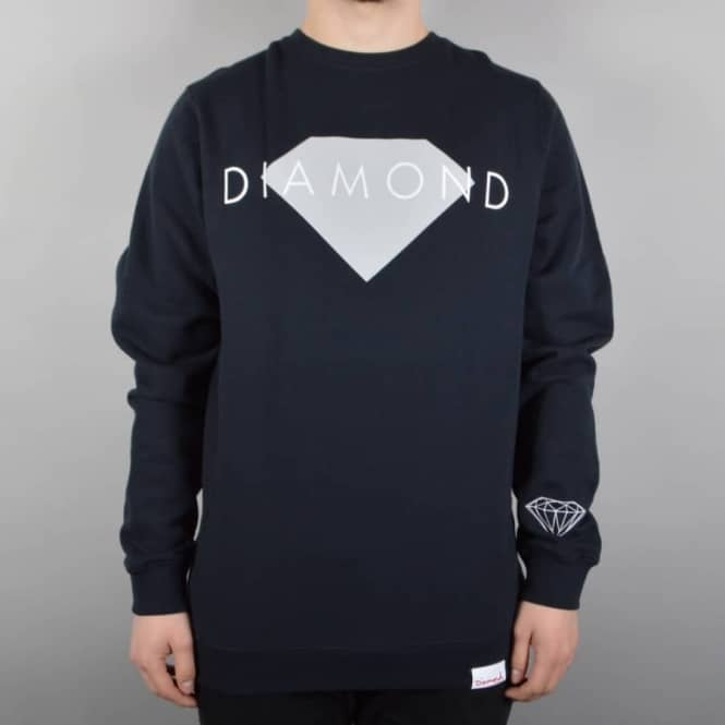 Diamond Supply Co Solid Crewneck Sweater - Navy