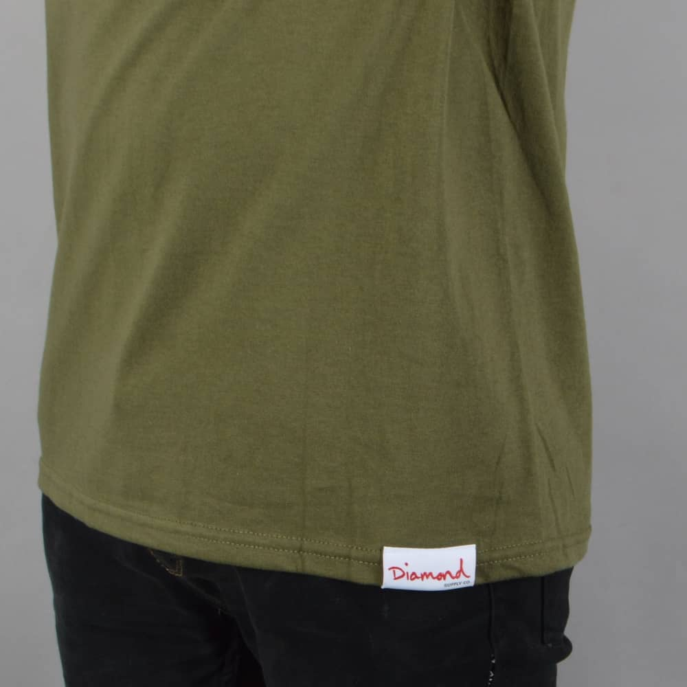 72dc7b79da1 Diamond Supply Co. Stone Cut Skate T-Shirt - Military Green - SKATE ...