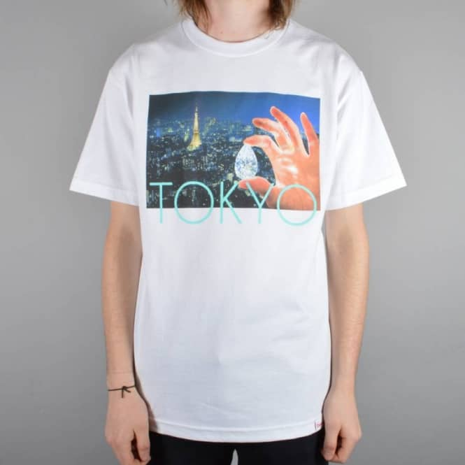 Diamond Supply Co. Tokyo Life Skate T-Shirt - White