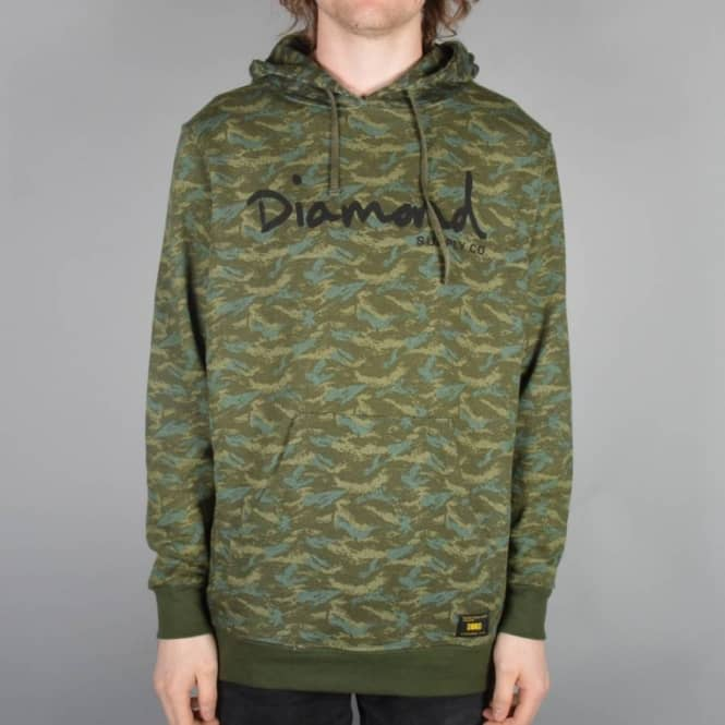 30fc588c4 Diamond Supply Co. Tonal Camo Pullover Hoodie - Green - Hooded Tops ...