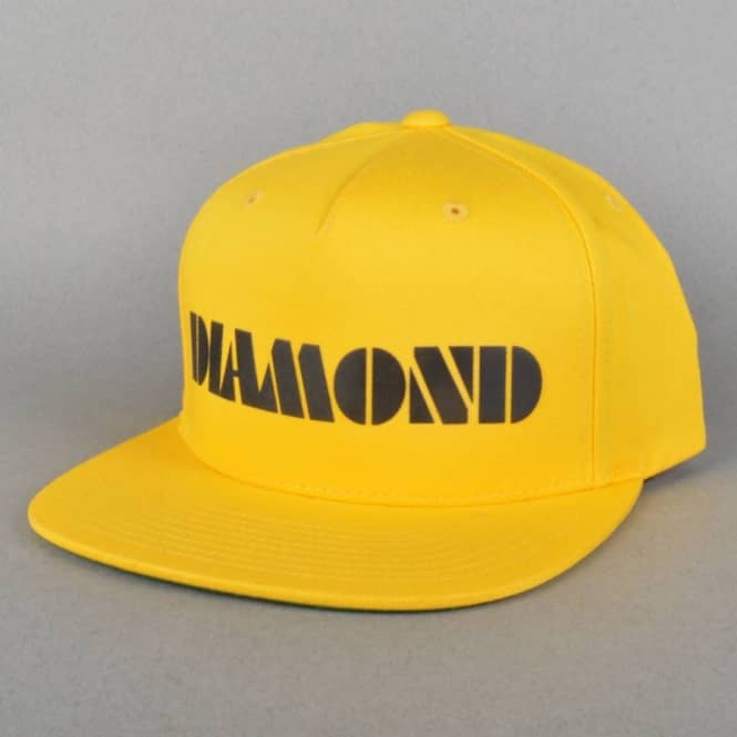 Diamond Supply Co Track Snapback Cap - Yellow
