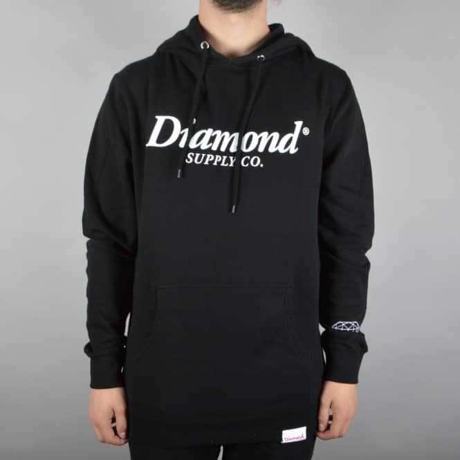 Diamond Supply Co Typeset Pullover Hoodie - Black
