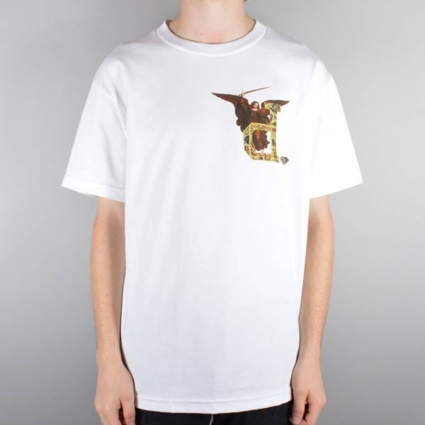 Diamond supply co un polo angel t shirt white skate t for Diamond supply co polo shirts