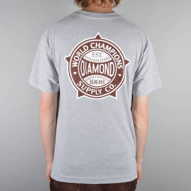 Diamond Supply Co World Renowned Skate T-Shirt - Athletic Heather