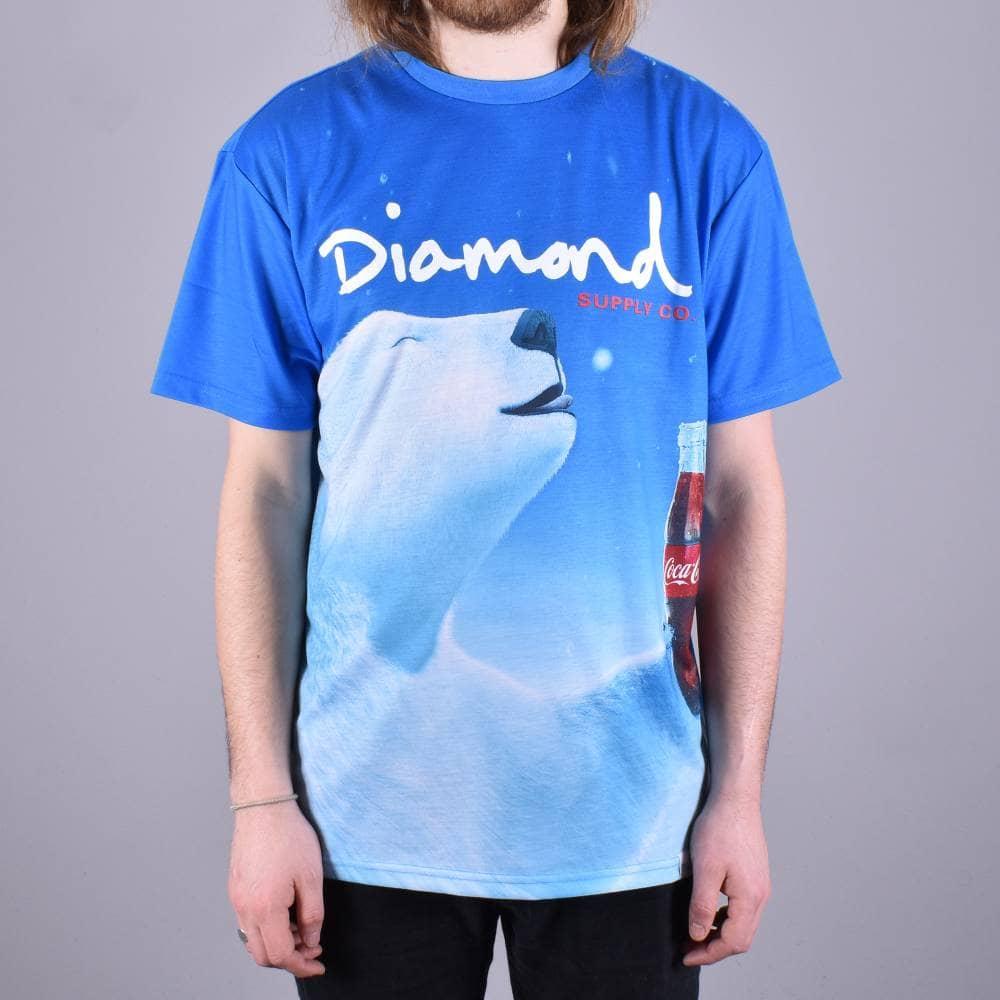 8ea01235d1 Diamond Supply Co. x Coca Cola Polar Bear T-Shirt - Blue