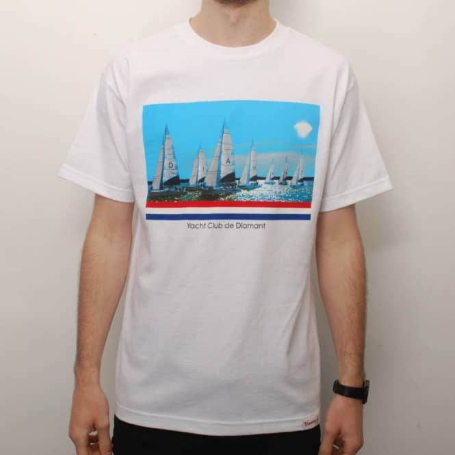 Diamond Supply Co. Diamond Supply Co. Yacht Club De Diamant Skate T-Shirt - White