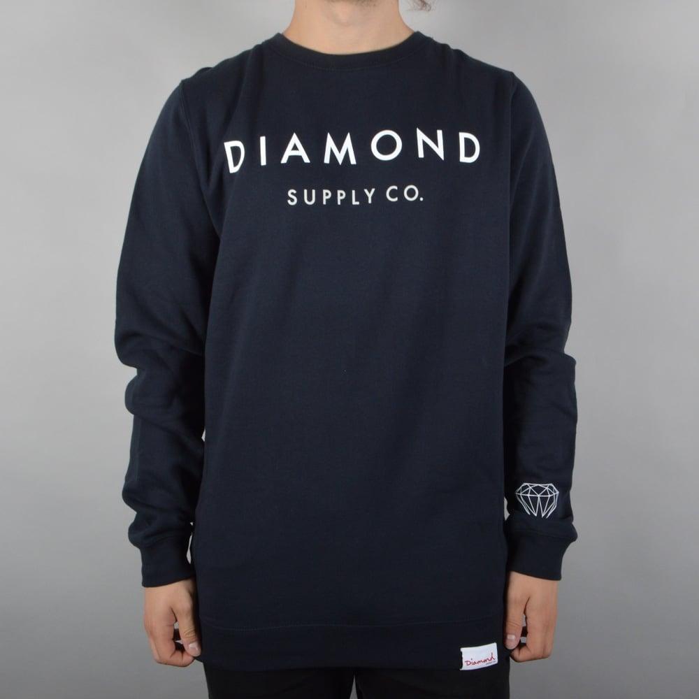 Diamond Supply Co. Yacht Type Crewneck Sweater - Navy ...