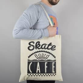 Diner Logo Tote Bag - Natural