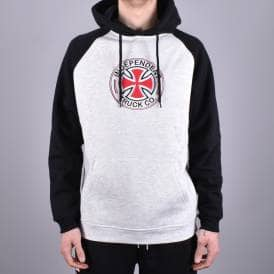 cf211698020 Directional Raglan Pullover Hood - Black Athletic Heather