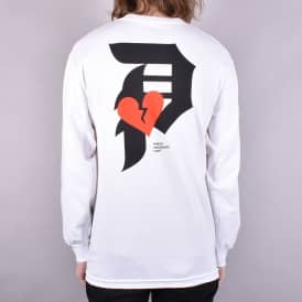 Dirty P Crush Longsleeve T-Shirt - White