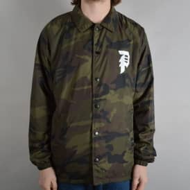Dirty P Windbreaker Jacket - Camo
