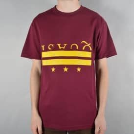 District Skate T-Shirt - Burgundy