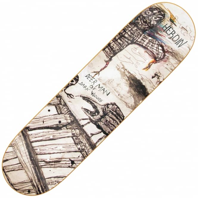 Heroin Skateboards DMODW Enemy Ritual Skateboard Deck 8.75