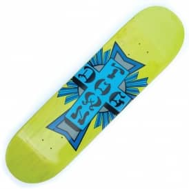 Dogtown Skateboards Street Cross Logo Colour Neon Yellow Skateboard Deck 8.25""