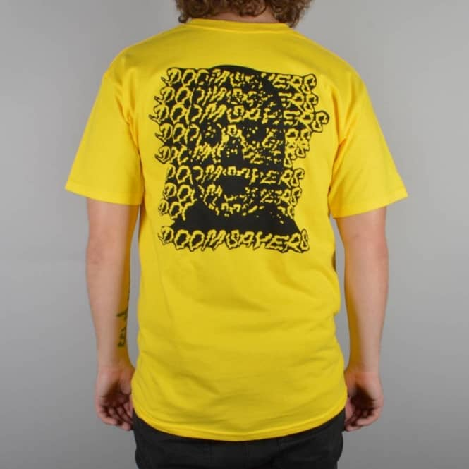 Doomsayers Club Ghost Face T-Shirt - Yellow