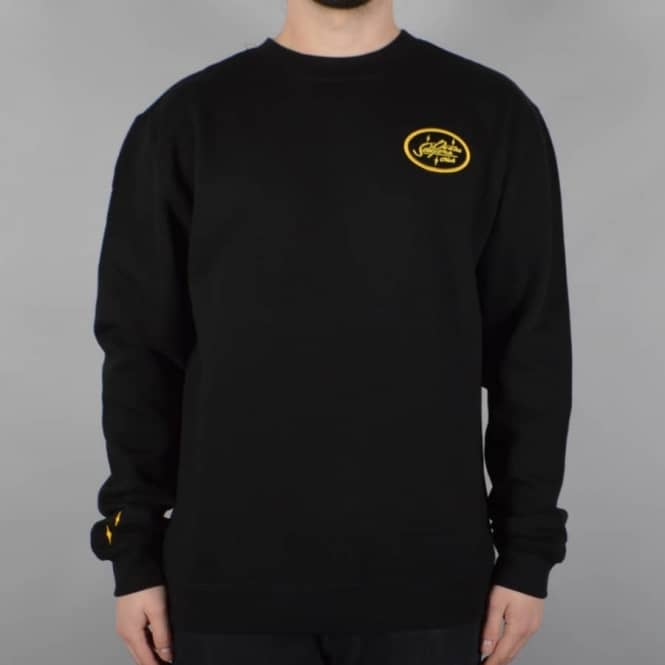 Doomsayers Club Sacto Script Crewneck Sweater - Black