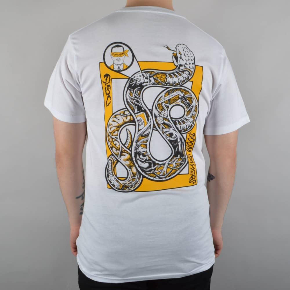 bd5925a00 Doomsayers Club Snake Anatomy Skate T-Shirt - White - SKATE CLOTHING .