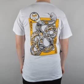 Snake Anatomy Skate T-Shirt - White