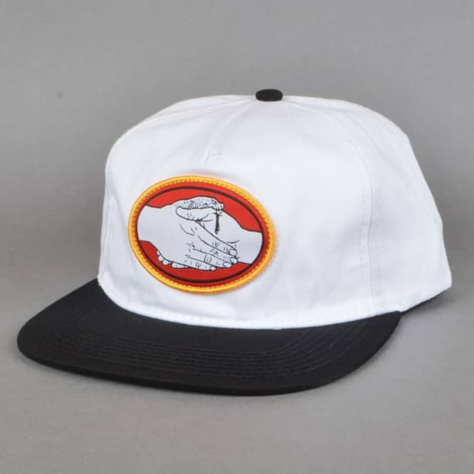 Doomsayers Club Snake Bite Snapback Cap - White/Black