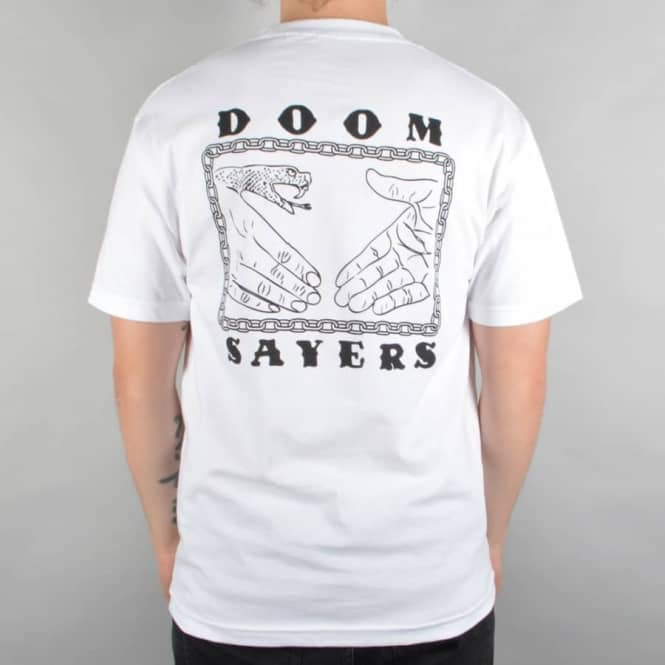 Doomsayers Club Snake Chain Pocket T-Shirt - White