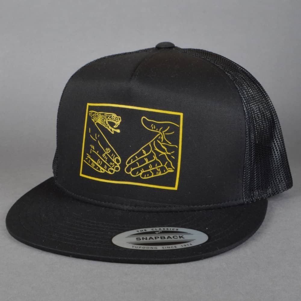 2f357ab85a3 Doomsayers Club Snake Shake Trucker Cap - Black Yellow - SKATE ...