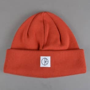 Polar Skateboards Double Fold Beanie - Brick Red