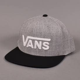 Drop V II Snapback Cap - Heather Grey Black d40a1ad0b349