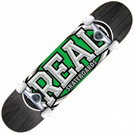 Dropouts Large (Black/Green) Complete Skateboard 8.0