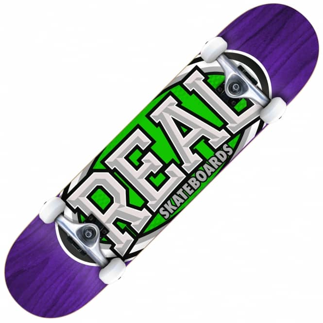 Real Skateboards Dropouts Mini (Purple/Green) Complete Skateboard 7.3