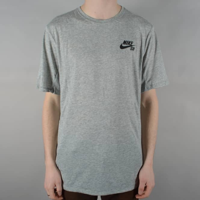 Nike SB Dry Skyline Skate T-Shirt - Dark Grey Heather/Black